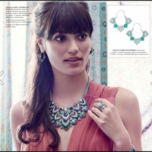 Chloe + Isabel Jewelry - Peacock Plumes Statement Bib Necklace